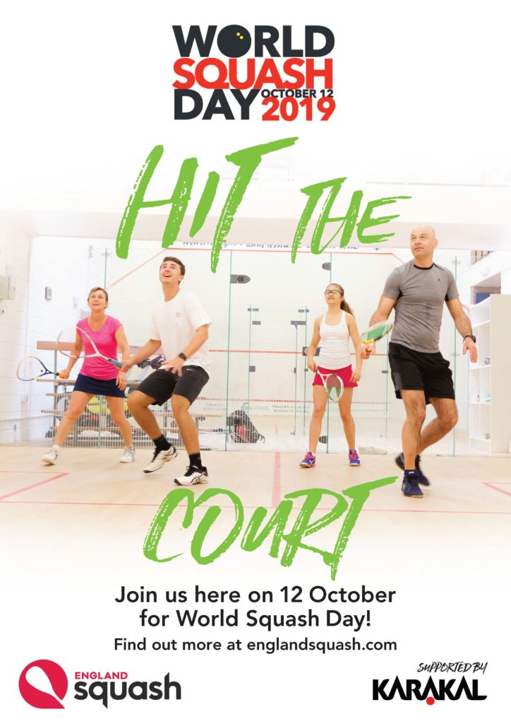 World Squash Day 2019 Poster for Clubs